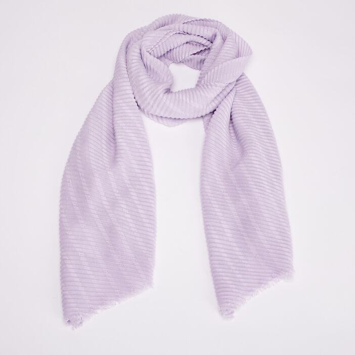 Foulard plissé violet clair femme