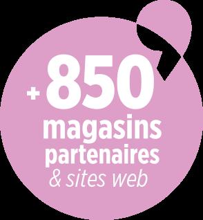 850 magasins partenaires et sites web