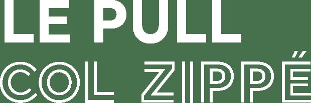 LE PULL GRAPHIQUE COL ZIPPE