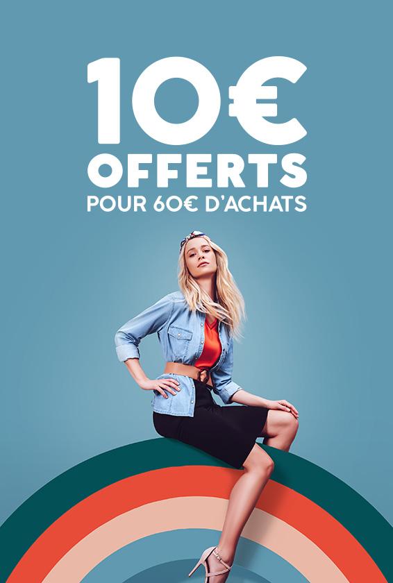 10€ offerts dès 60€ d'achats
