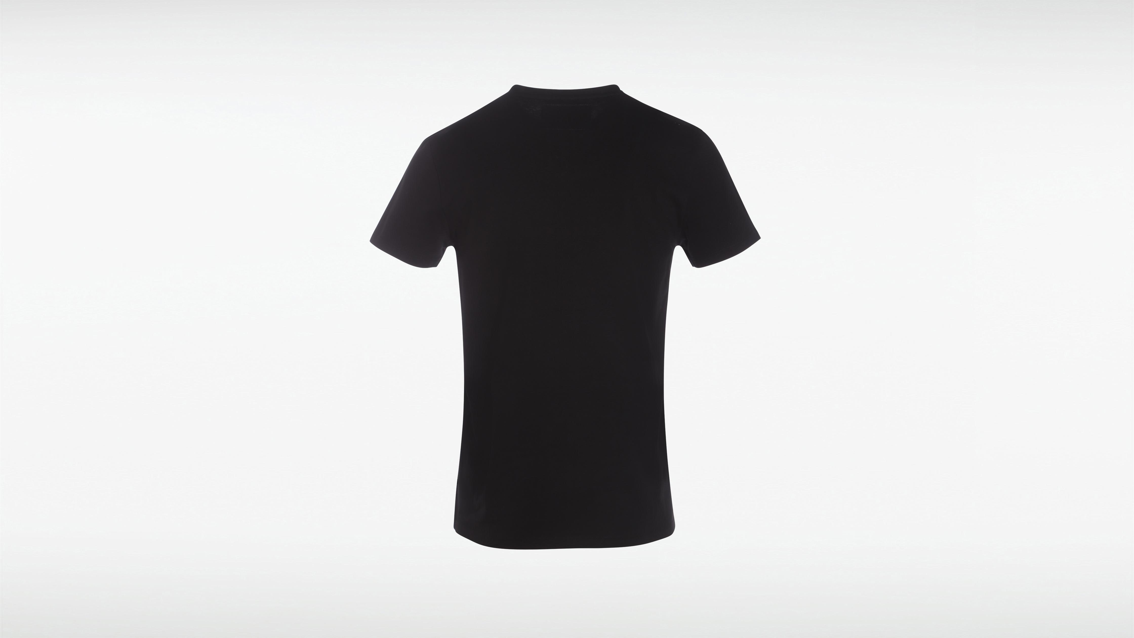 Tommy Hilfiger Noir T shirt en coton bio original Homme Tommy Black ~ Ferme Flamenvert