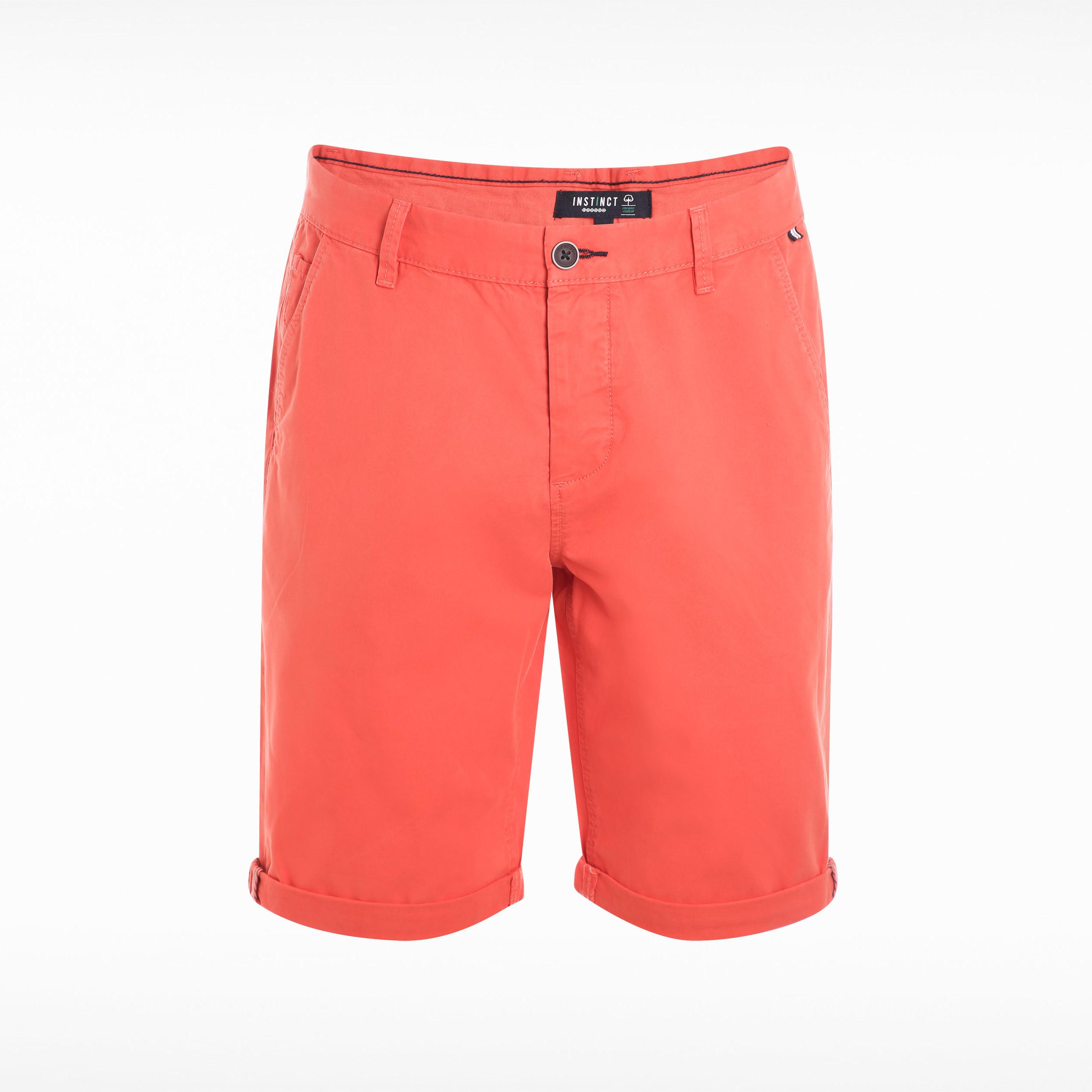 rojo chino reverso para Shorts hombre Bermuda 8nwNv0m