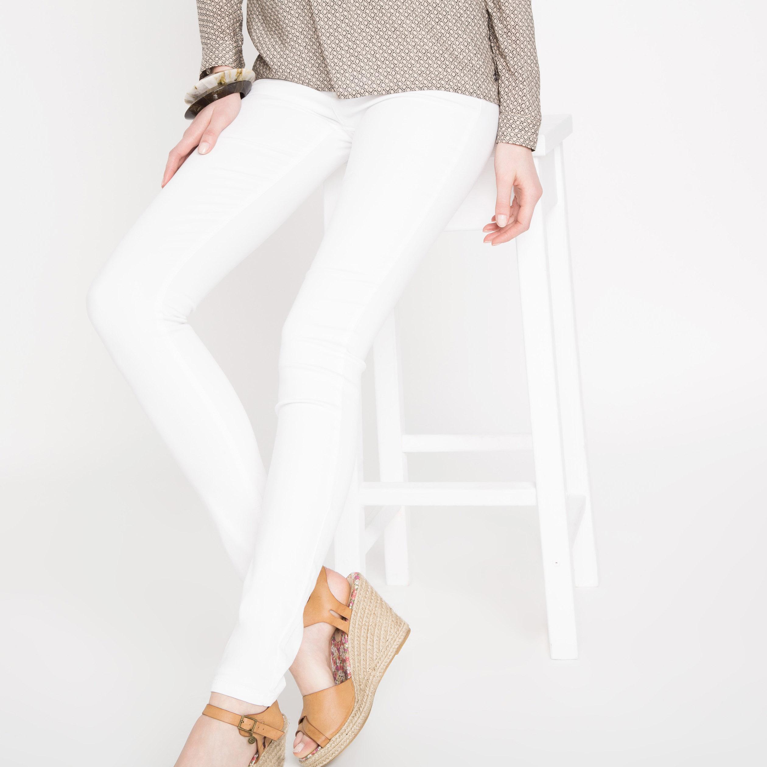 Jeans Skinny Jegging Haute Taille Femme Blanc 80PwnXOk