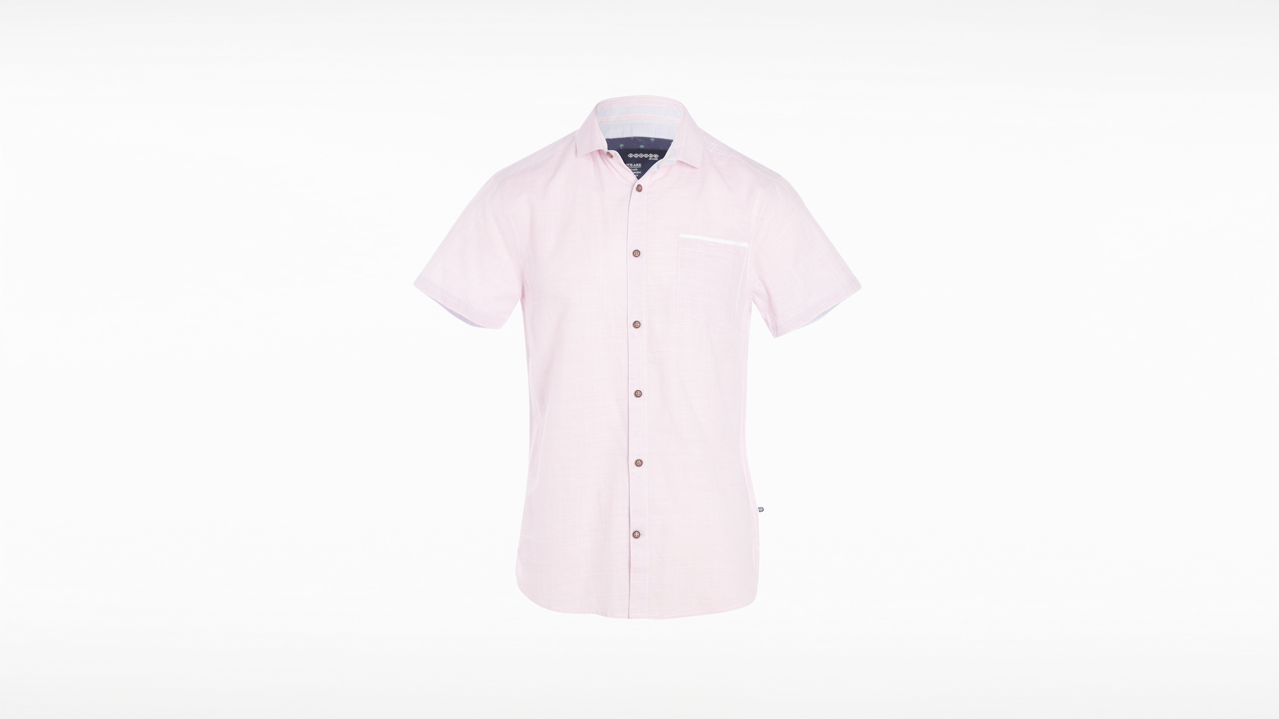 Col Rose Homme Petit Manches Chemise Cerise Courtes bY7v6yfg