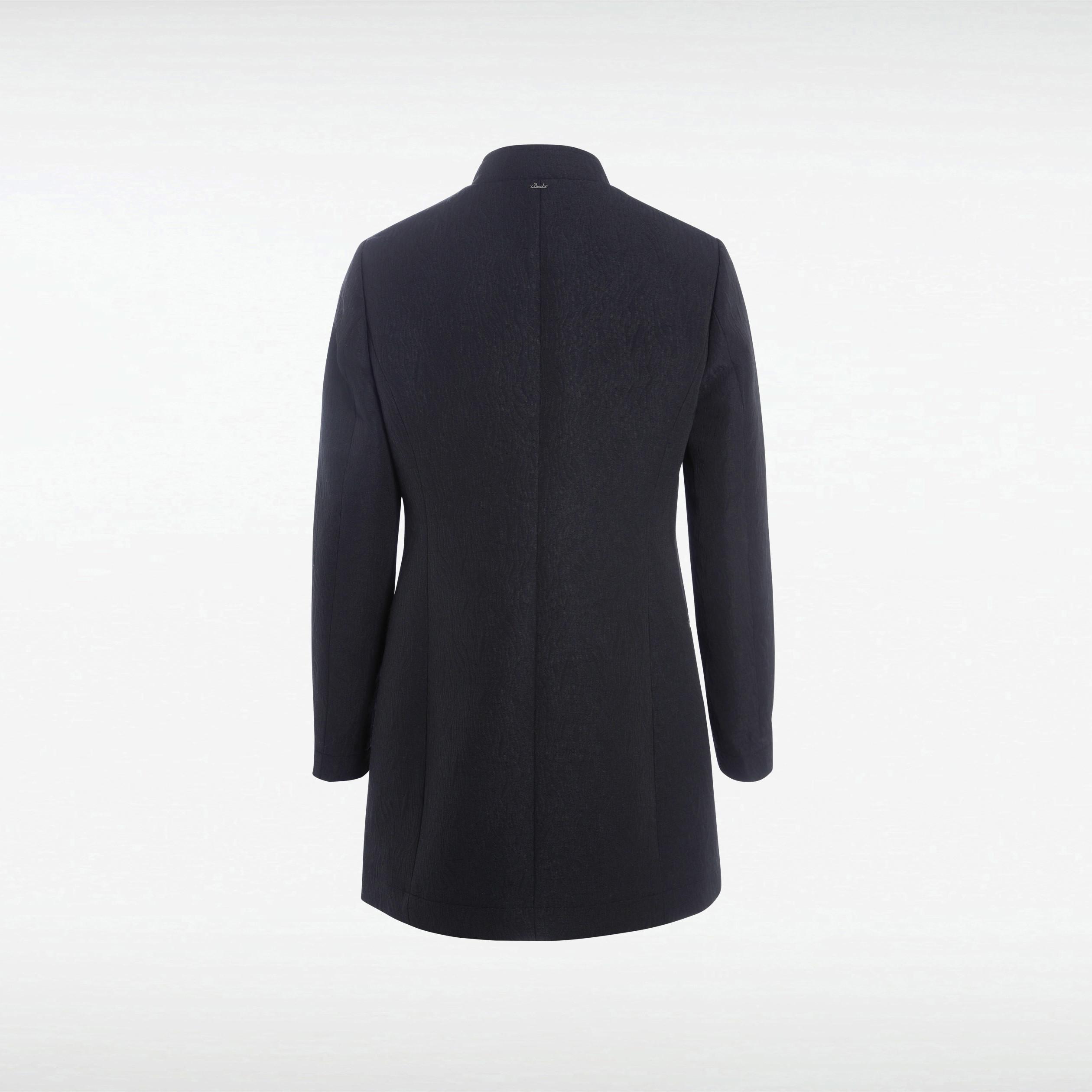 noir Manteau droit col femme mao nwOk8P0