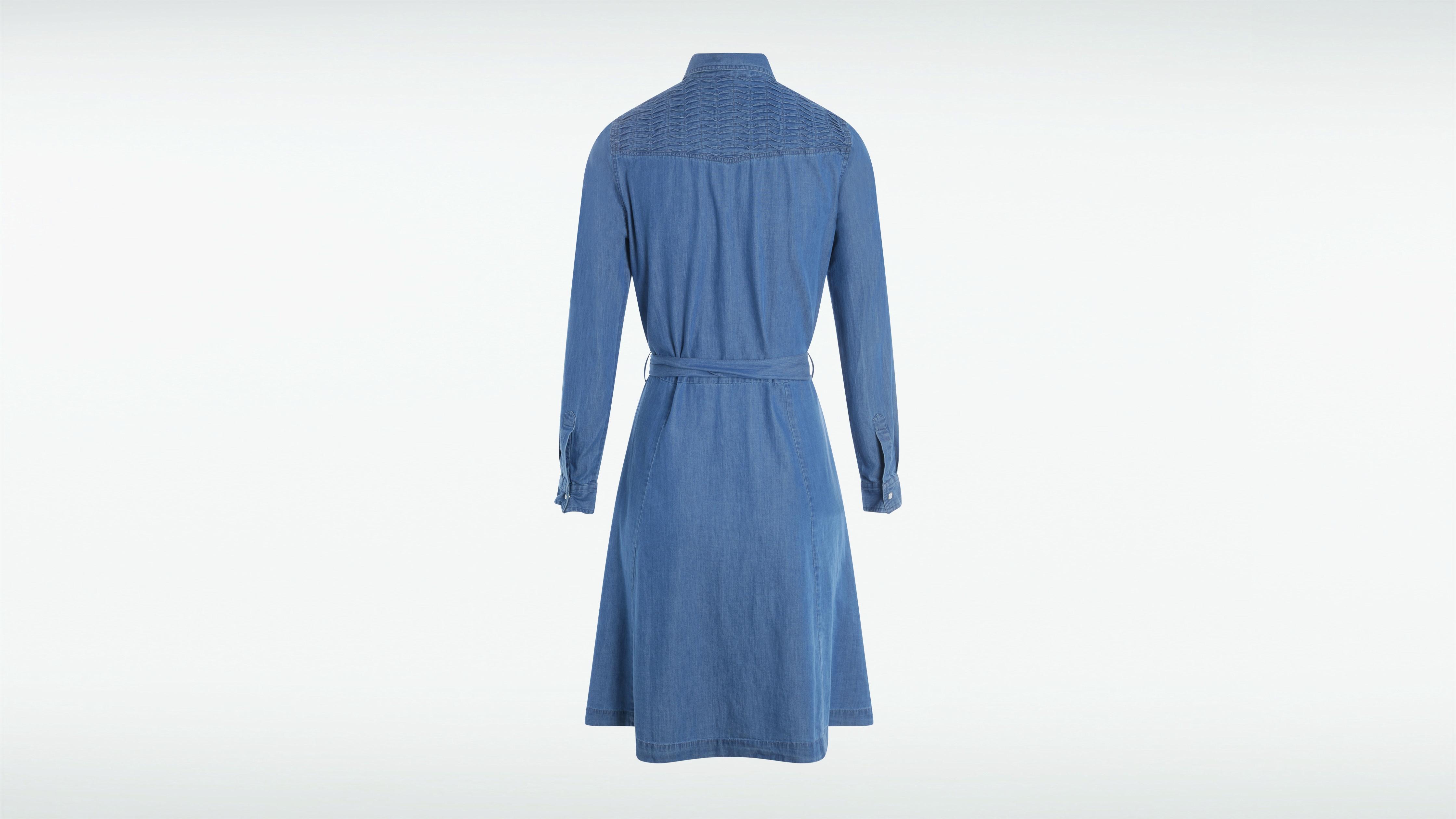 Cintrée En Denim Femme Robe Stone Chemise TKF1clJ