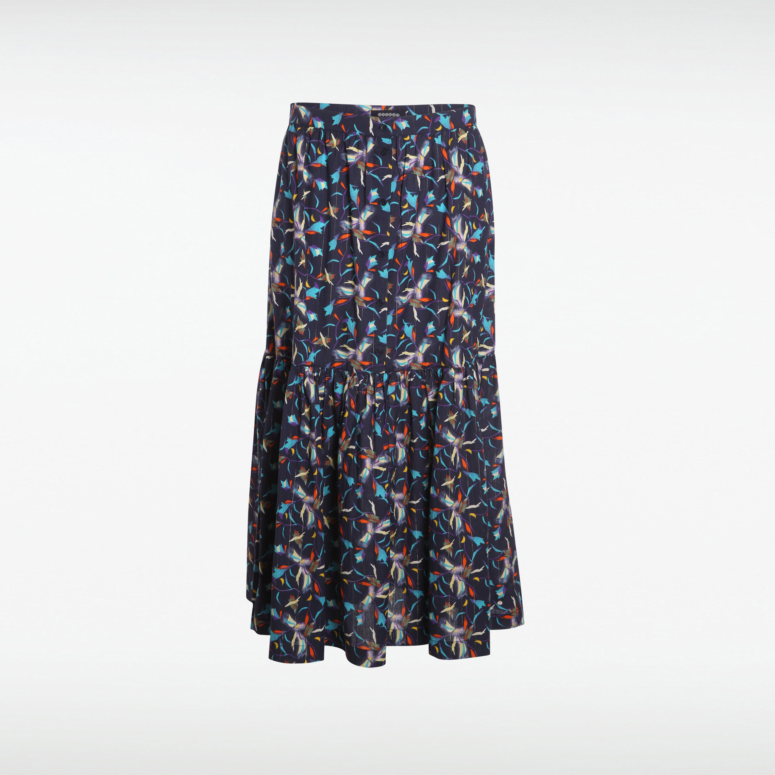 taille 40 1c4a4 a6ac3 Jupe longue bleu marine femme