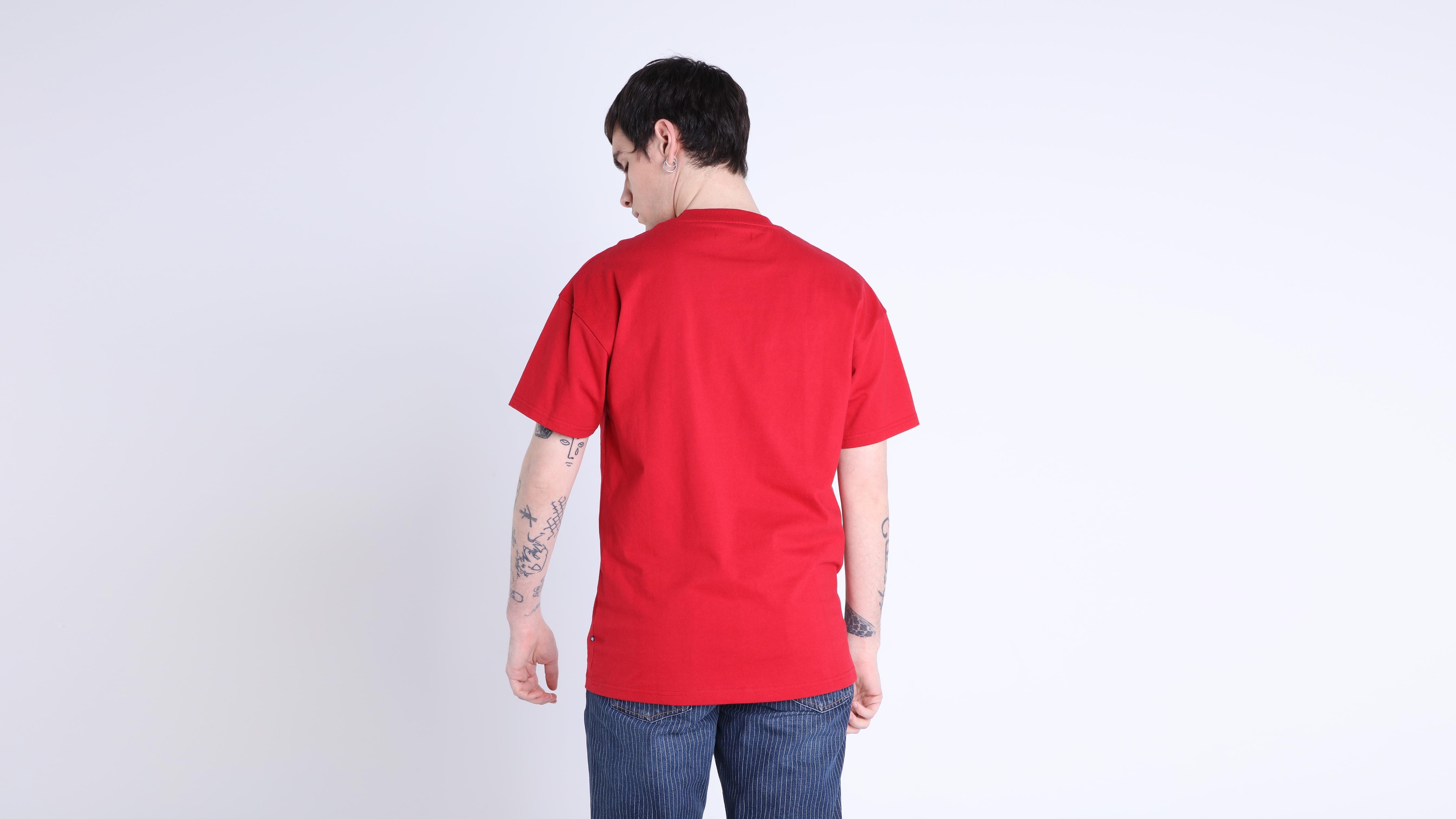 Shirt Courtes Manches Homme T Rouge UpqSzMV