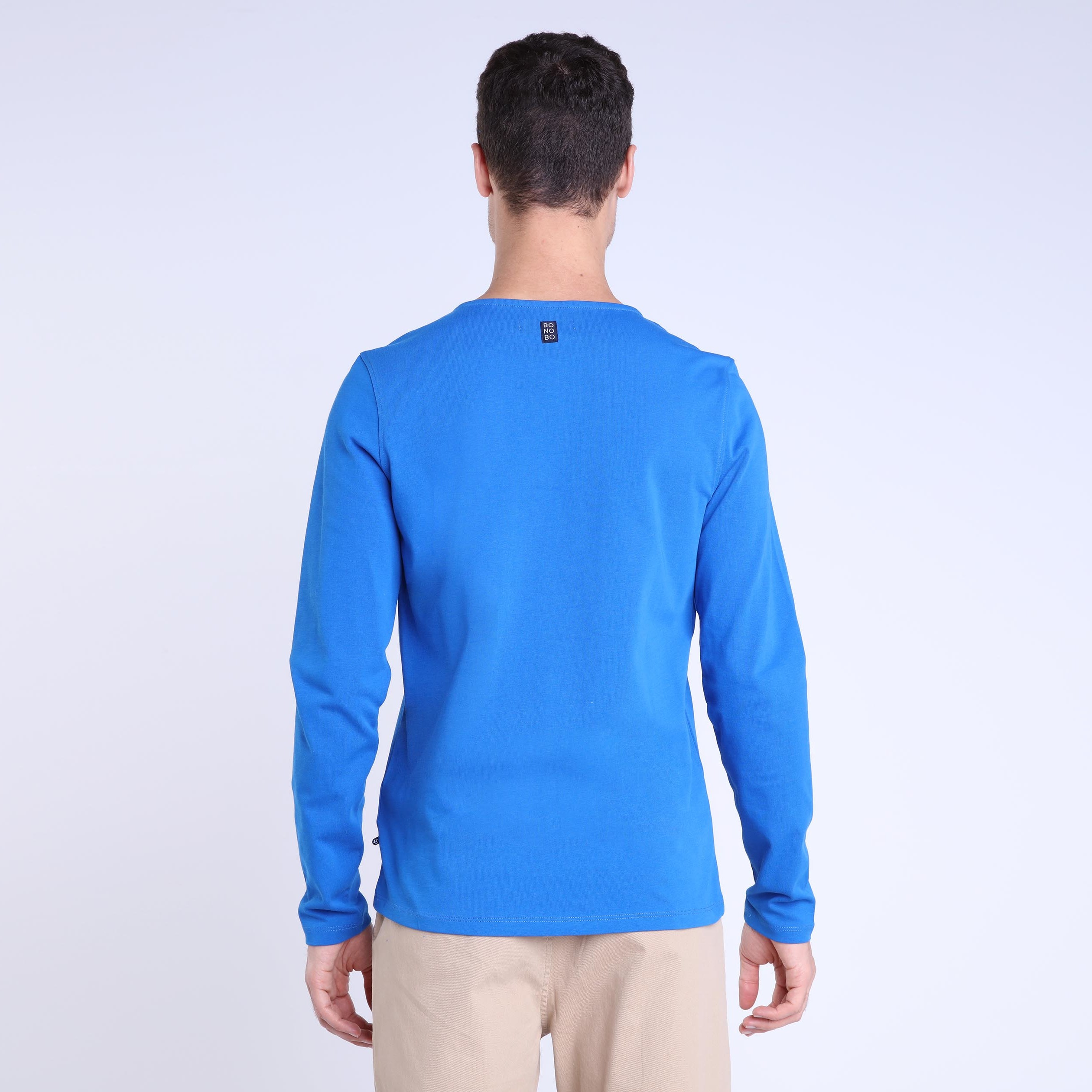 Shirt Electrique Bleu Homme Marinière T eEYWH9ID2