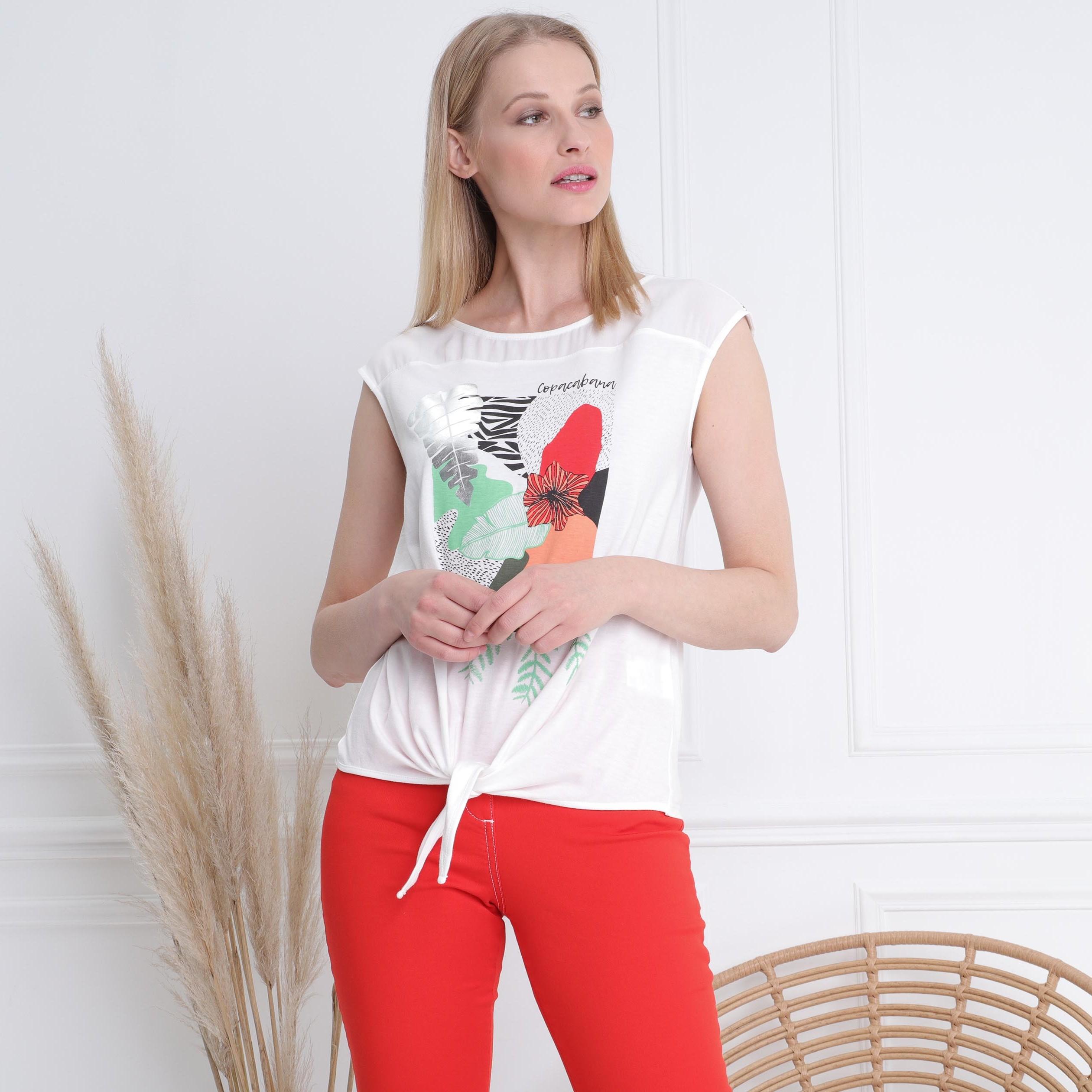 T Shirt Courtes Voile Ecru Femme Manches FKJc3Tl1