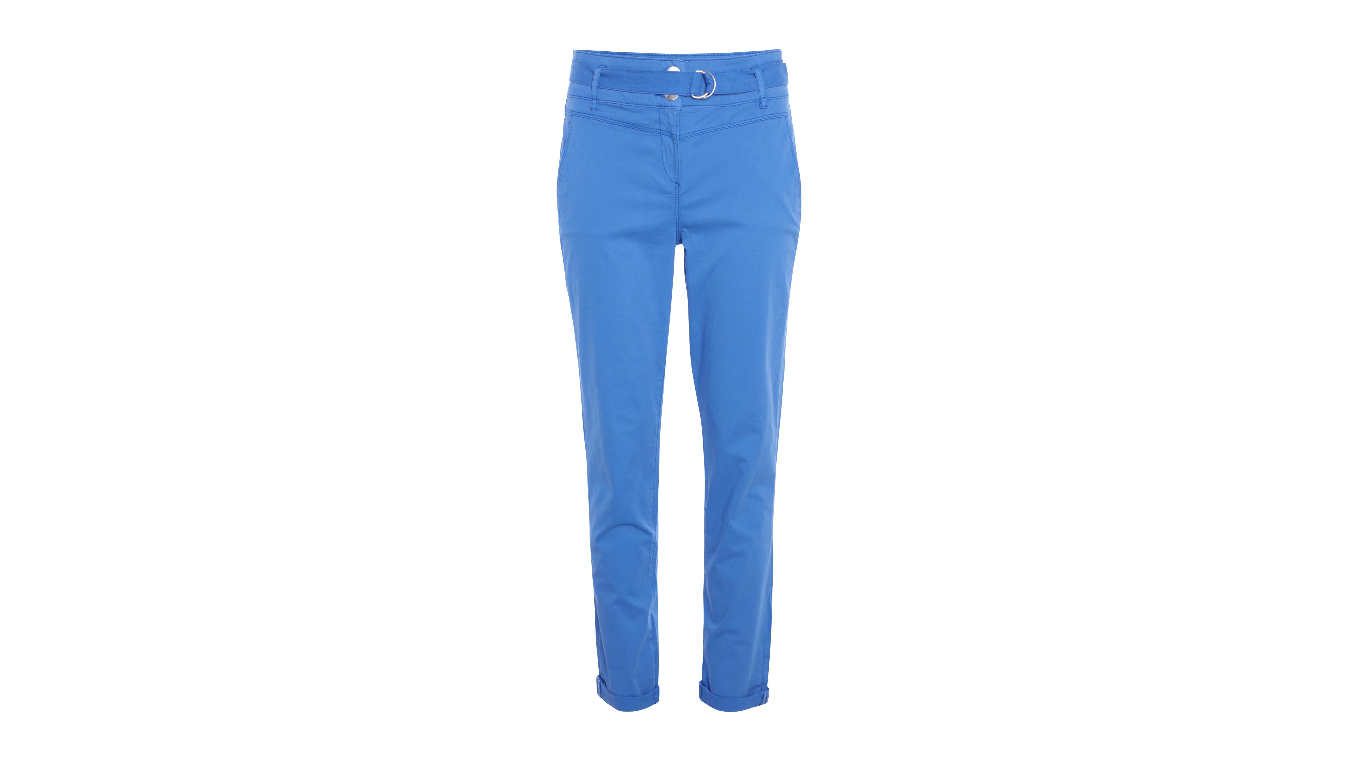 Taille Haute Femme Clair Bleu Pantalon Avec Ceinture EDYWH29I