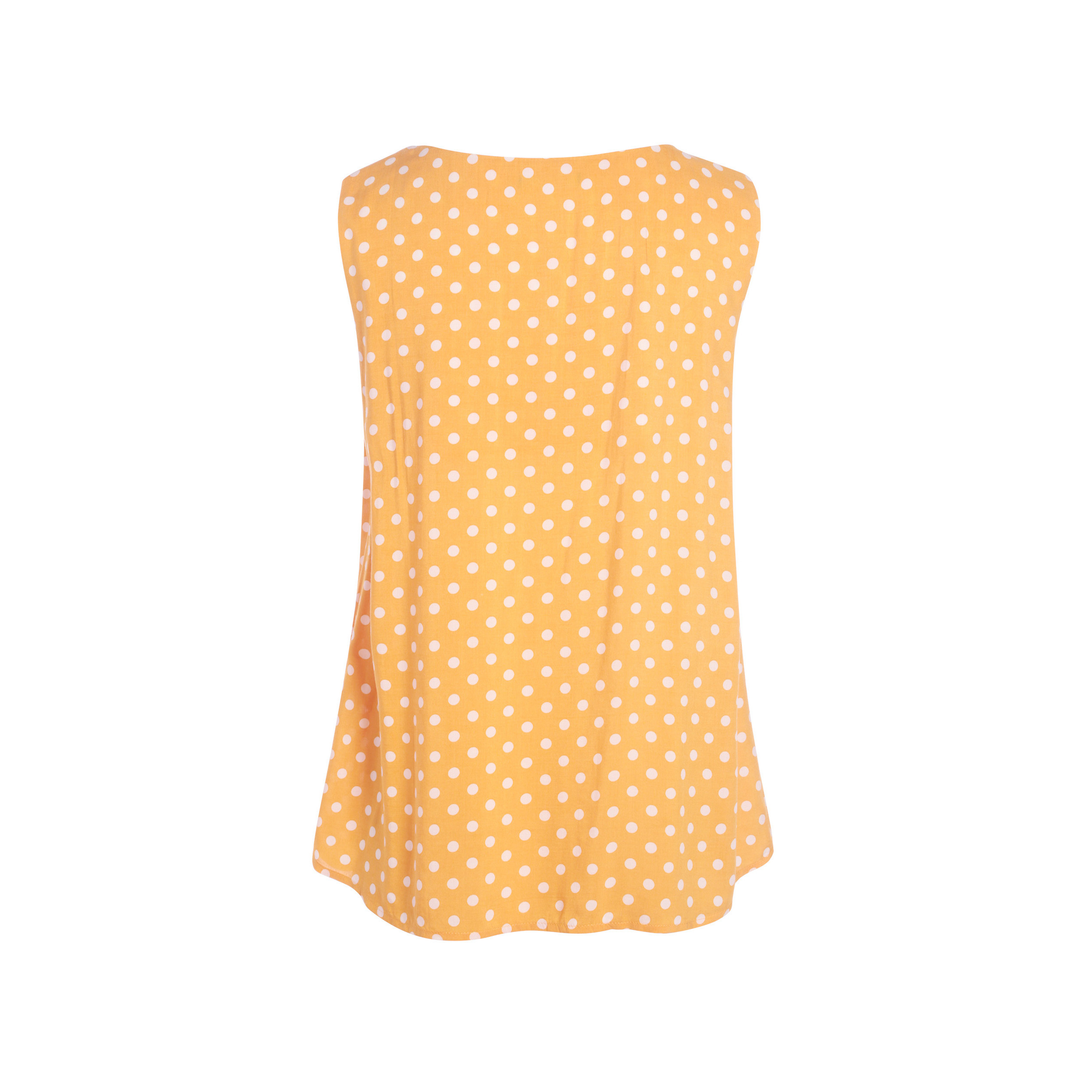 sin con Blusa mangas V mujer en de oro para cuello amarillo 2EHID9