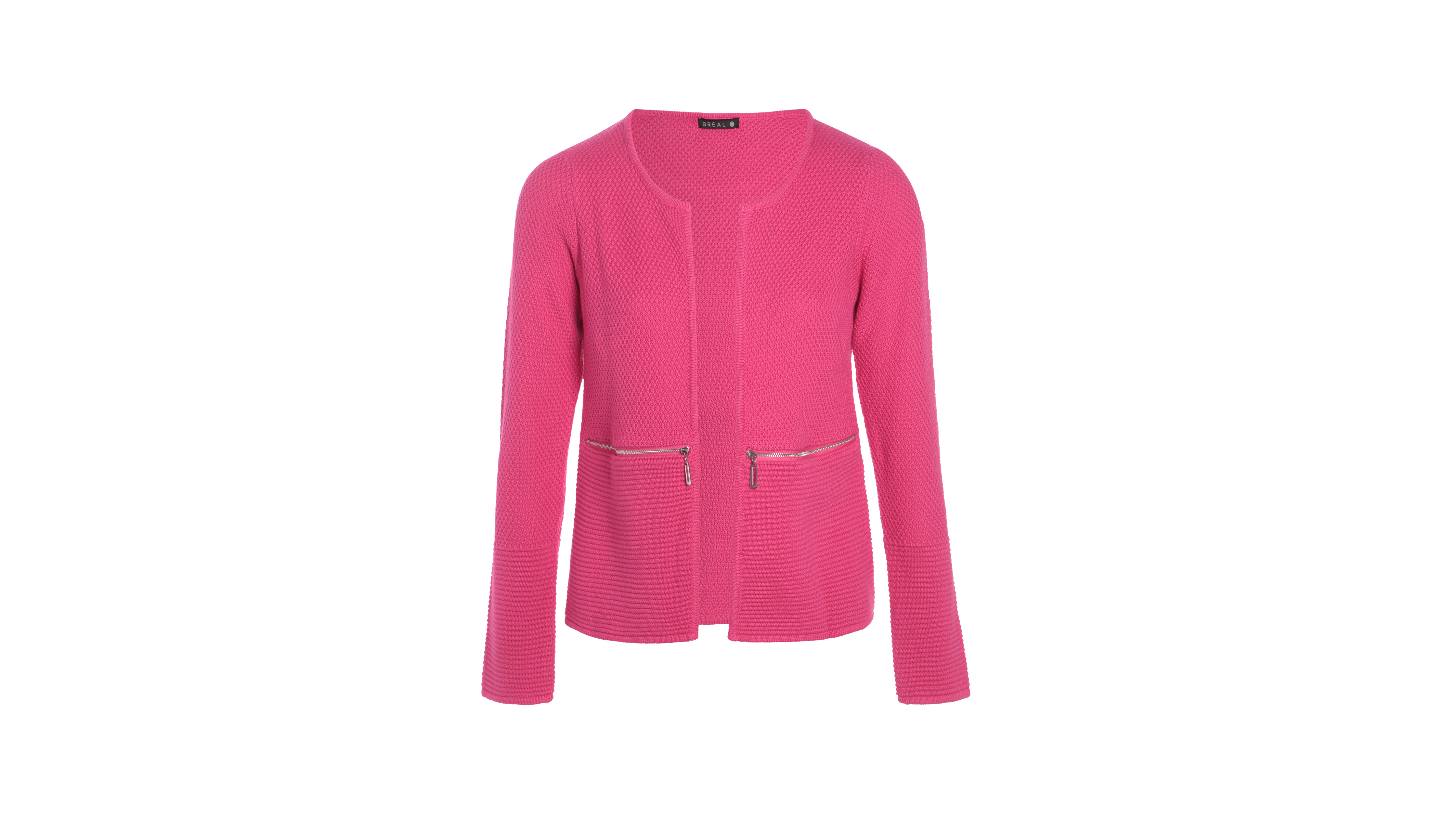 grand choix de 15396 7944f Gilet avec zips rose fushia femme
