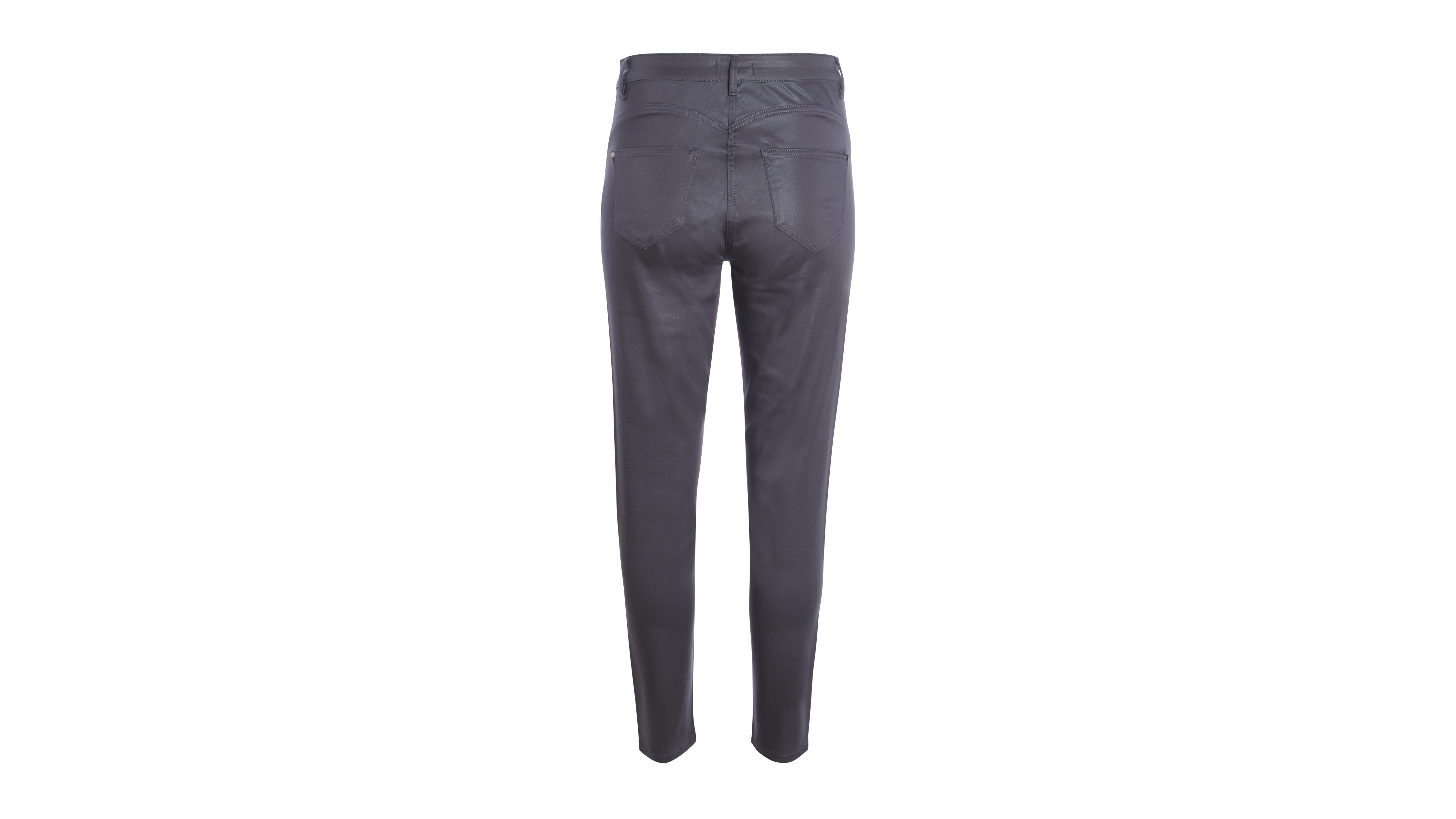 432b499eaf57b Pantalon taille standard ajusté enduit gris foncé femme | Vib's