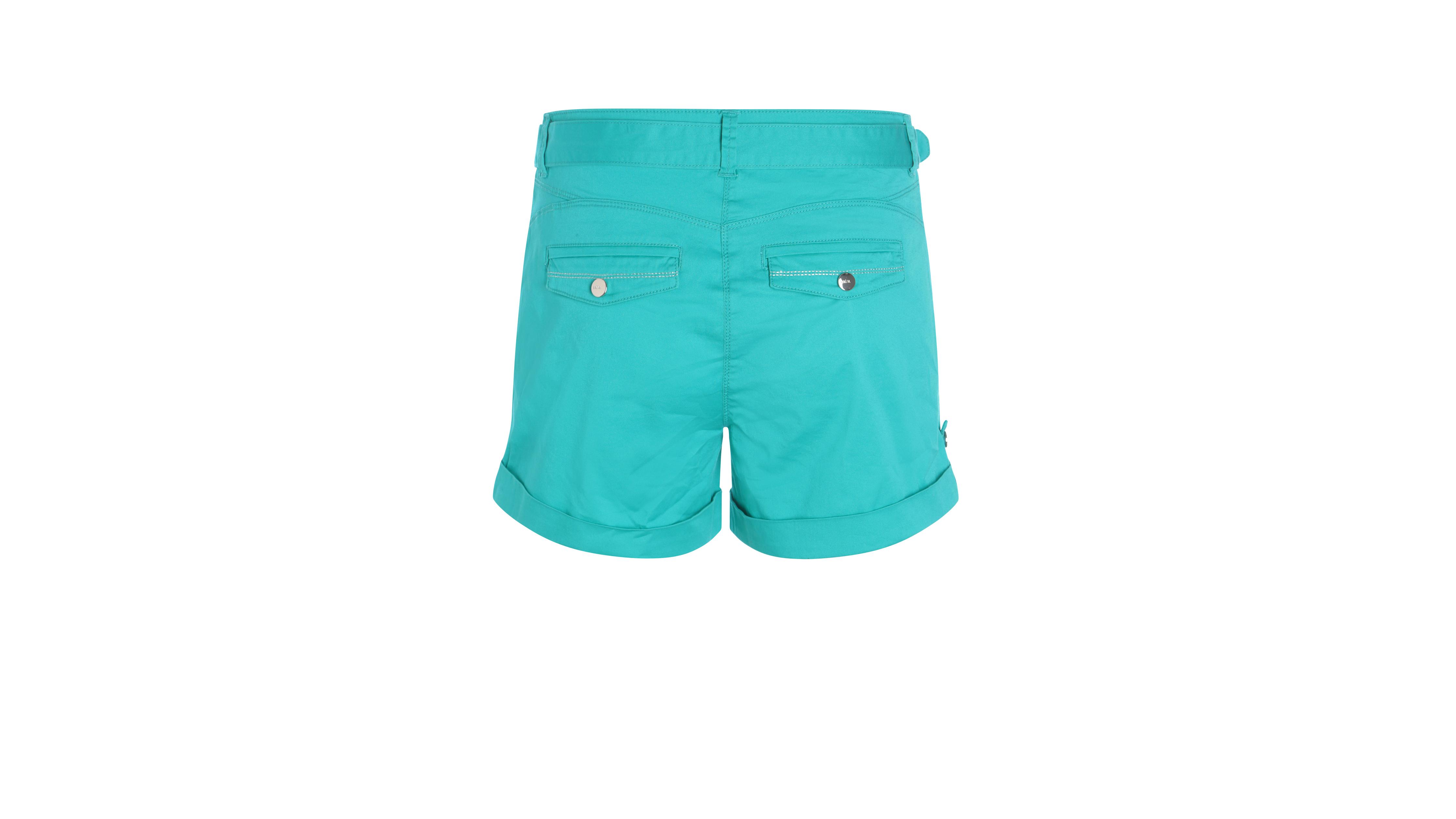 Turquoise Uni Femme Assortie Ceinture Short Avec Vert K1JlcF