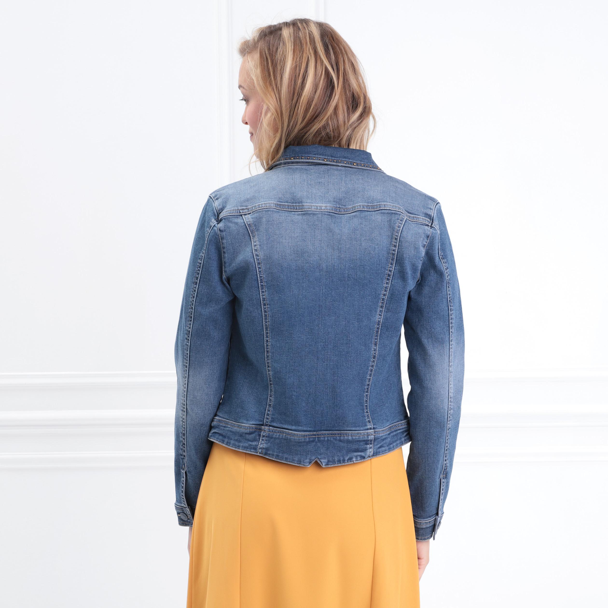 Couleurs variées e5af2 323c5 Veste cintrée en jean denim brut femme