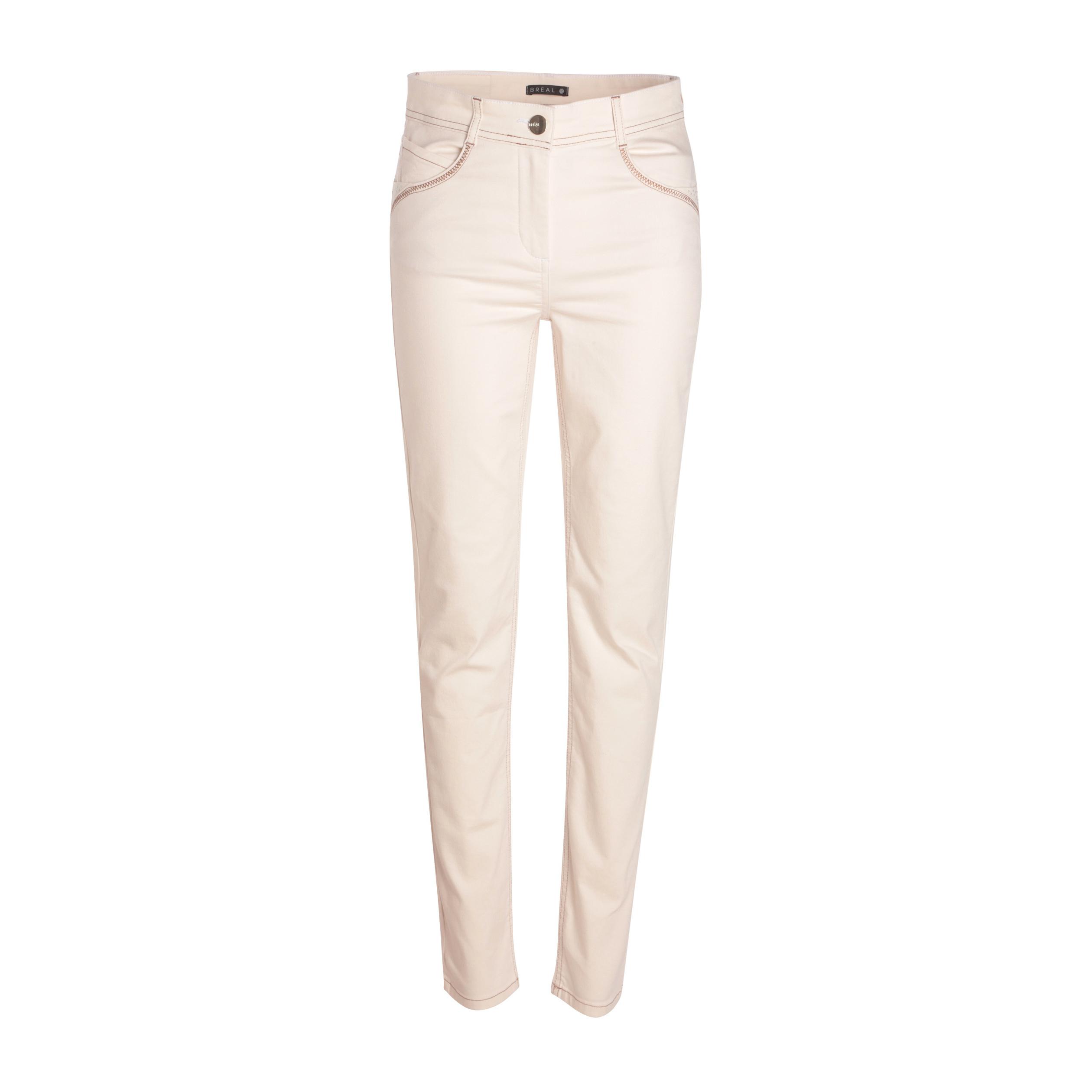 Taille Pantalon Creme Droit Femme Haute rCQsdth