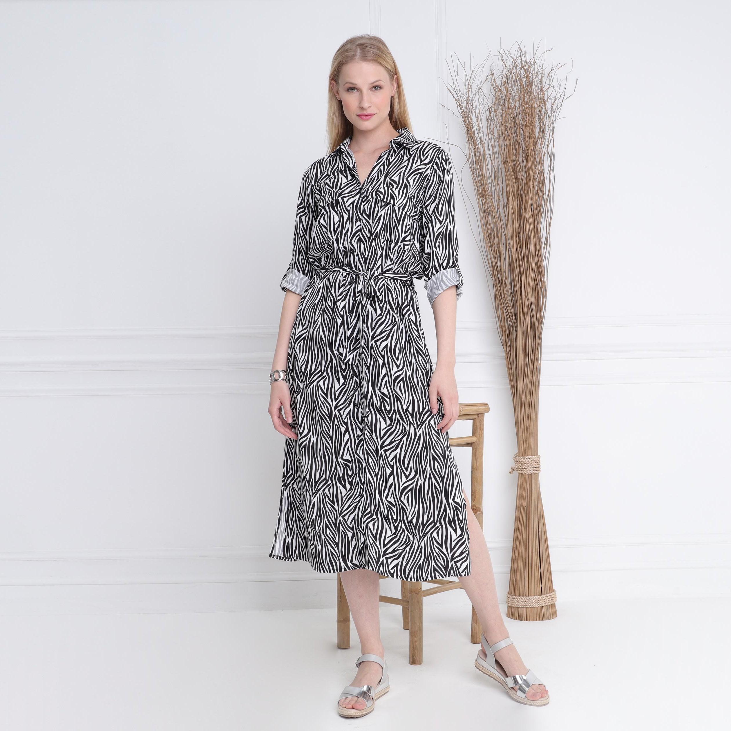 Chemise Mnwpyn80vo Longue Robe Noir Droite Femmevib's PXiOkZu