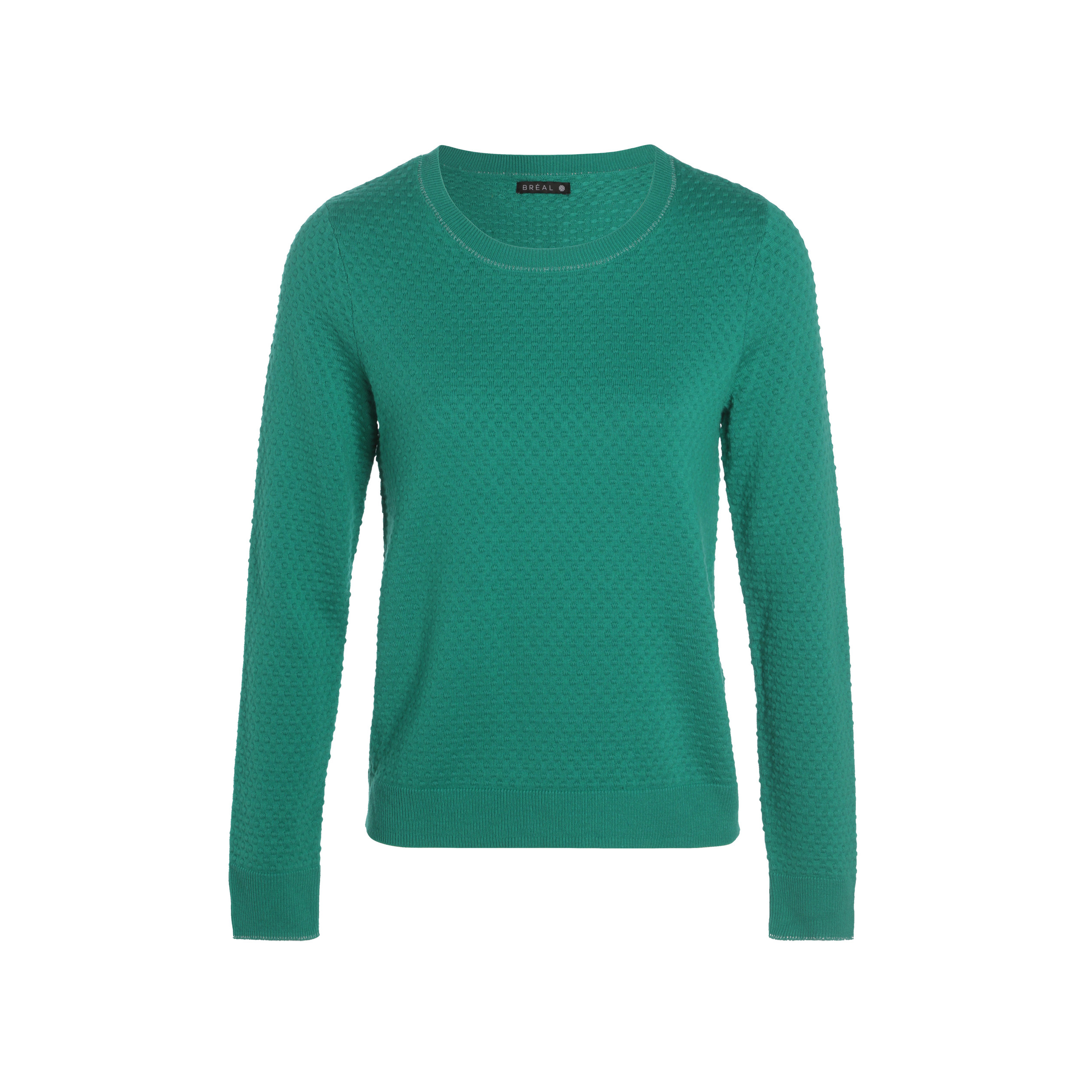 e067795ca Pull manches longues col rond vert menthe femme