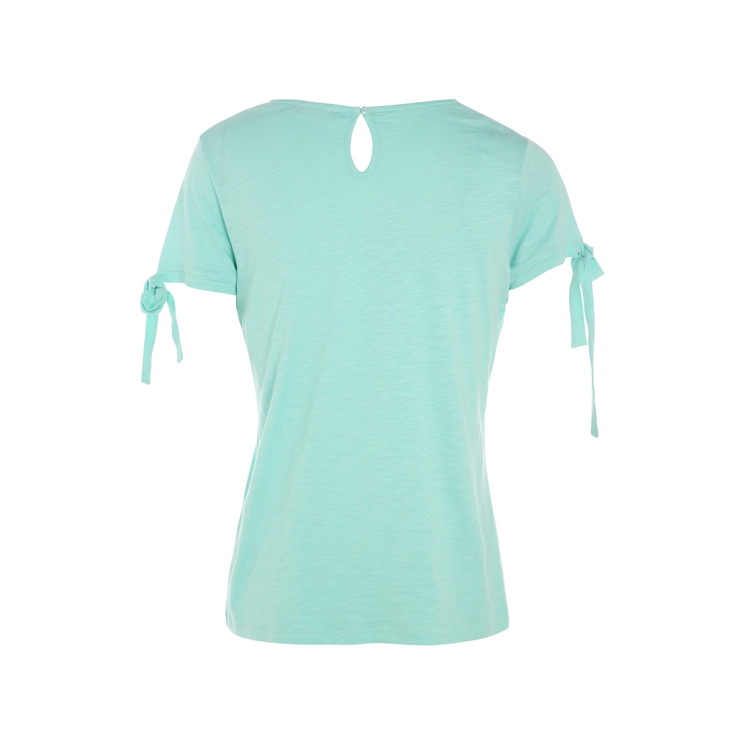 Vert Manches Avec Courtes Shirt T Femme Menthe Noeuds YWIDEH29