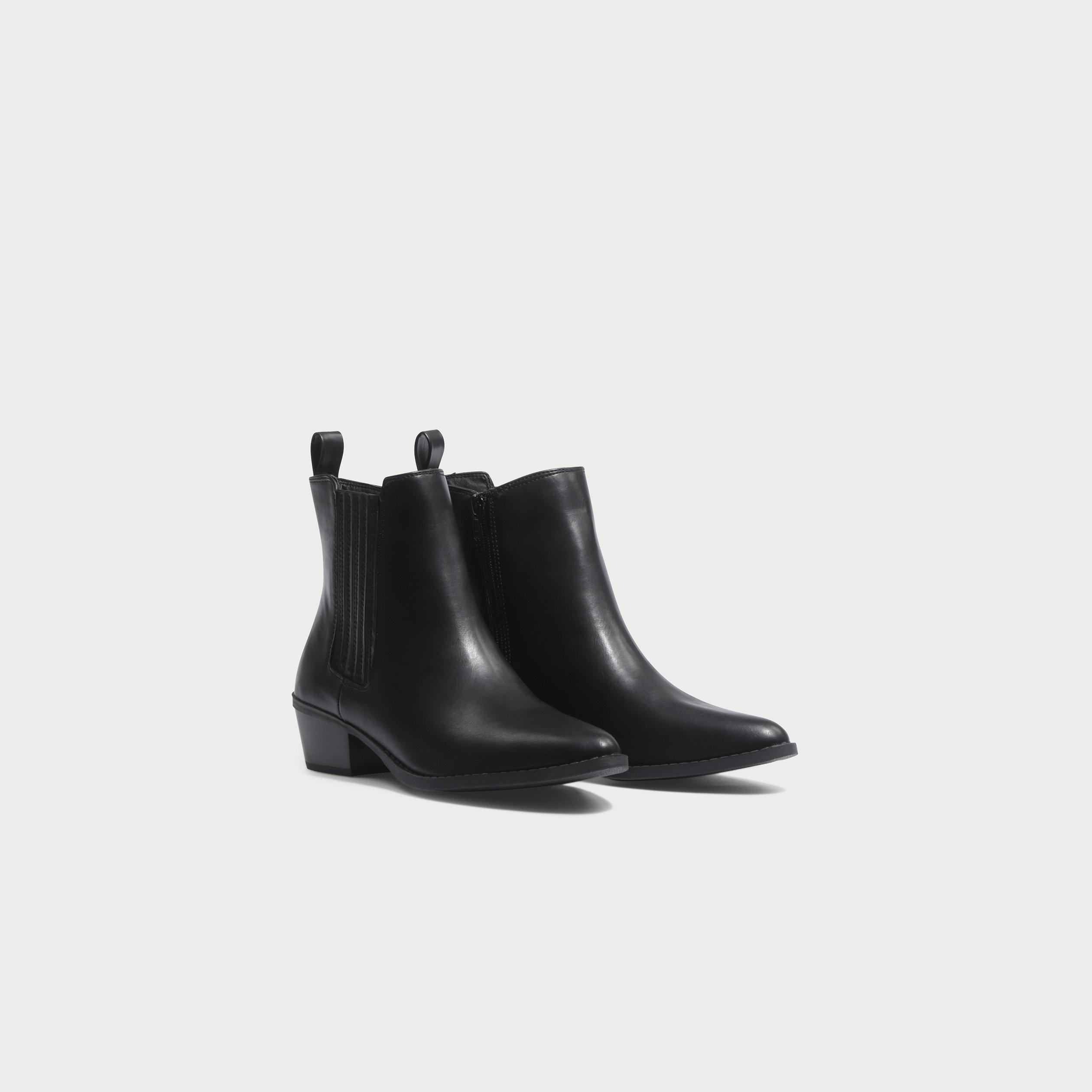 courir chaussures recherche de véritables classcic Bottines style santiags noir femme