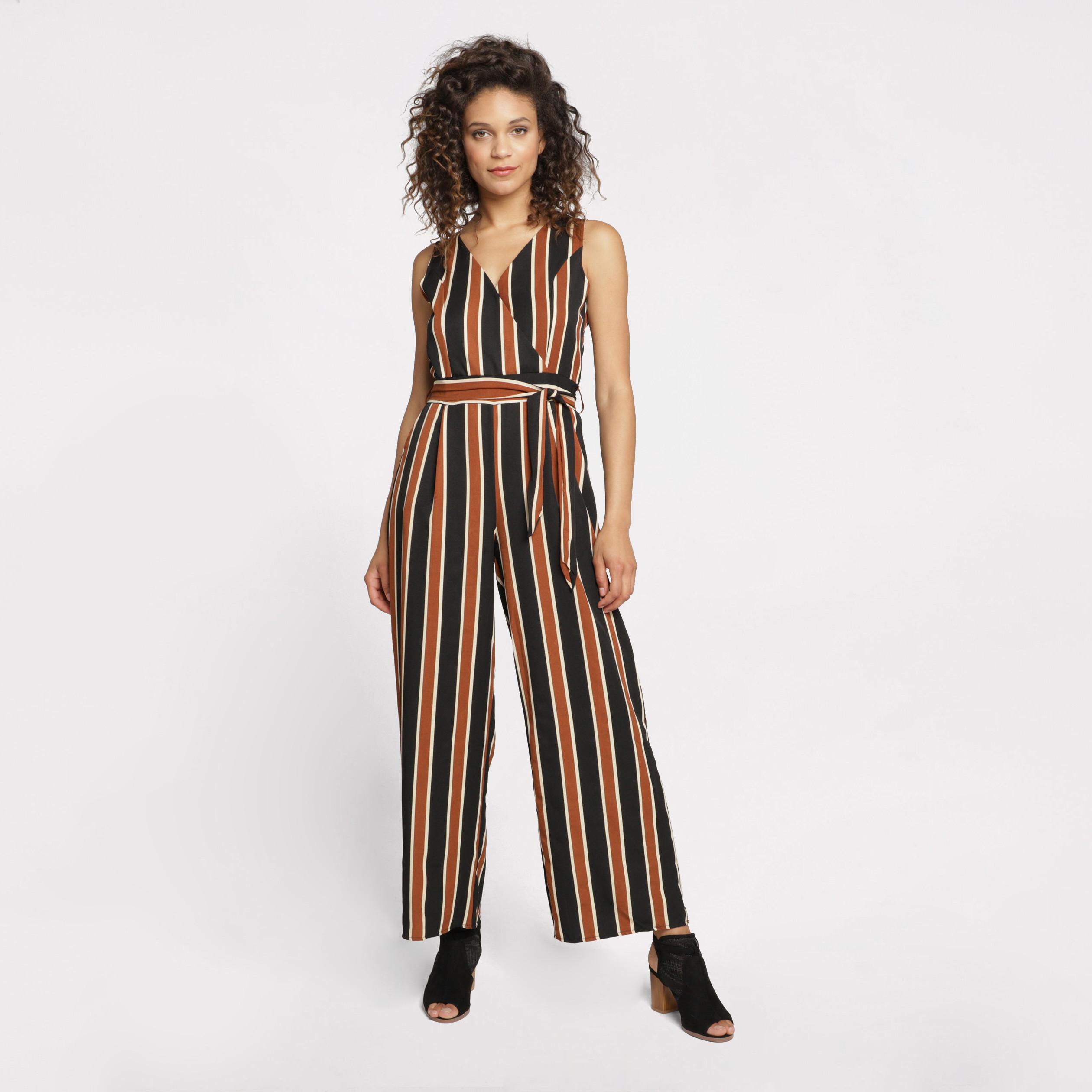 Super remise 100% de qualité supérieure photos officielles Combinaison-pantalon large orange foncé femme