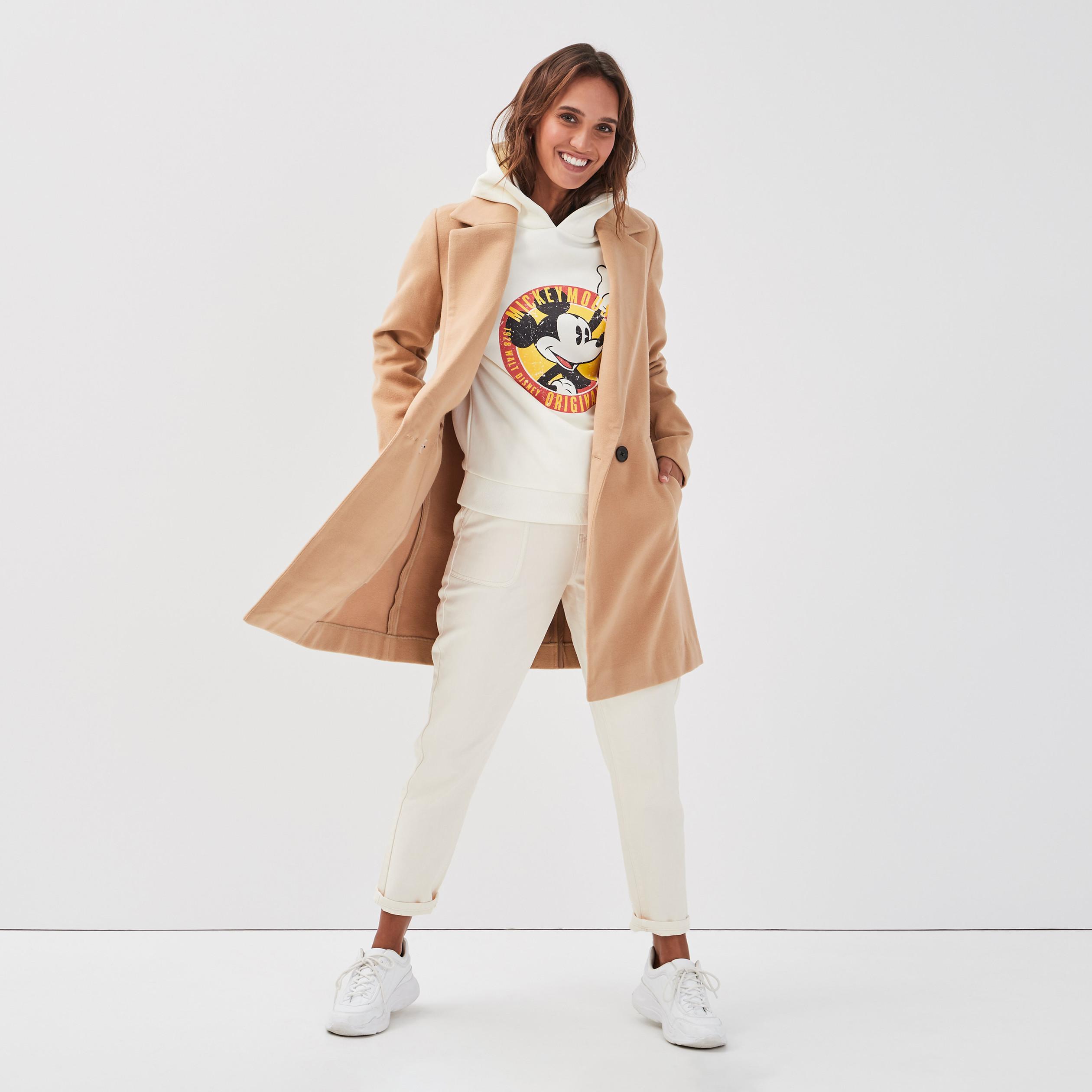 Manteau cintré col cranté