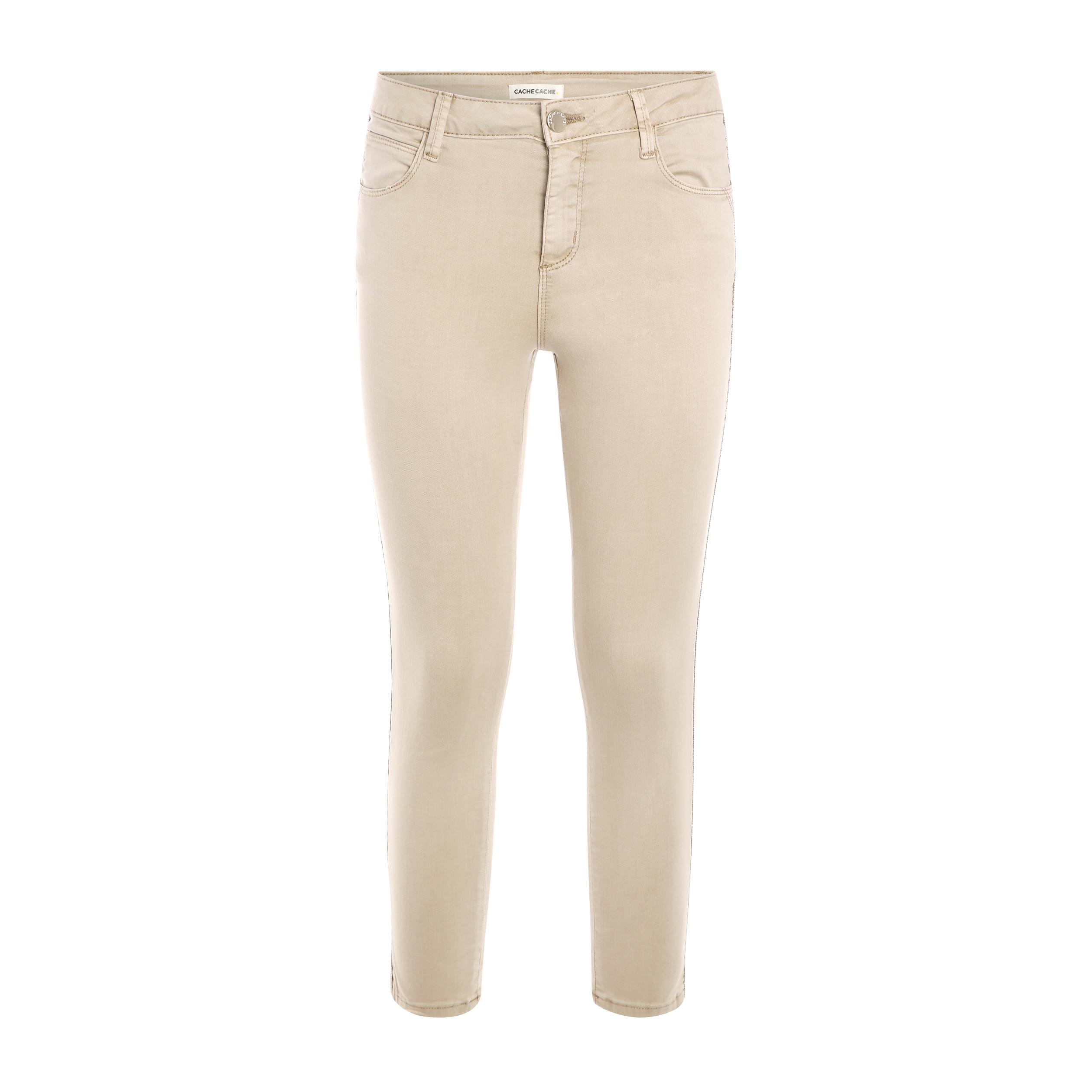 Pantalon Slim Raccourci Slim Pantalon Femme Raccourci Ecru YDHI2EW9