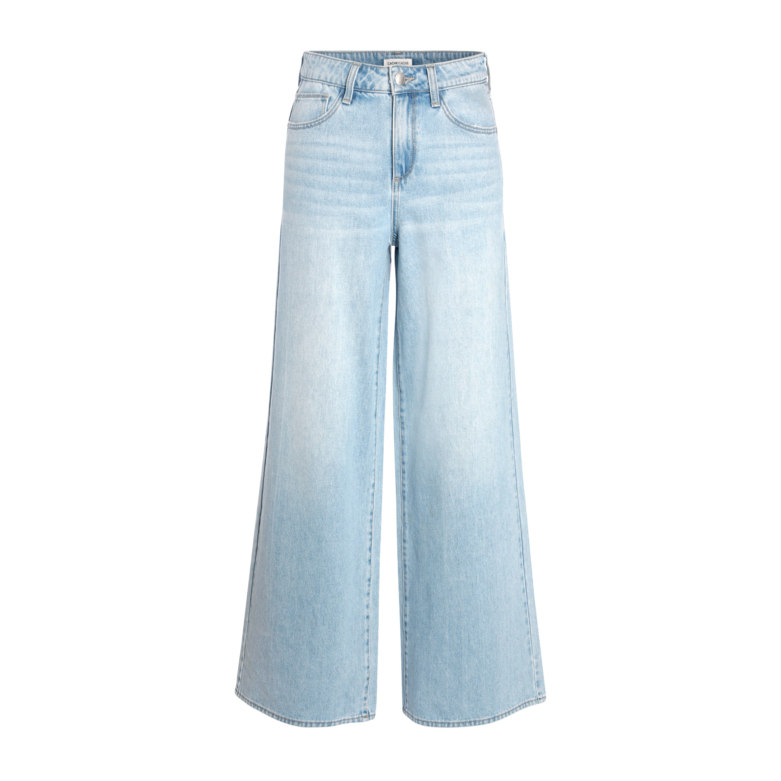 Large Denim Jeans Double Stone Femme lFKTc3u51J