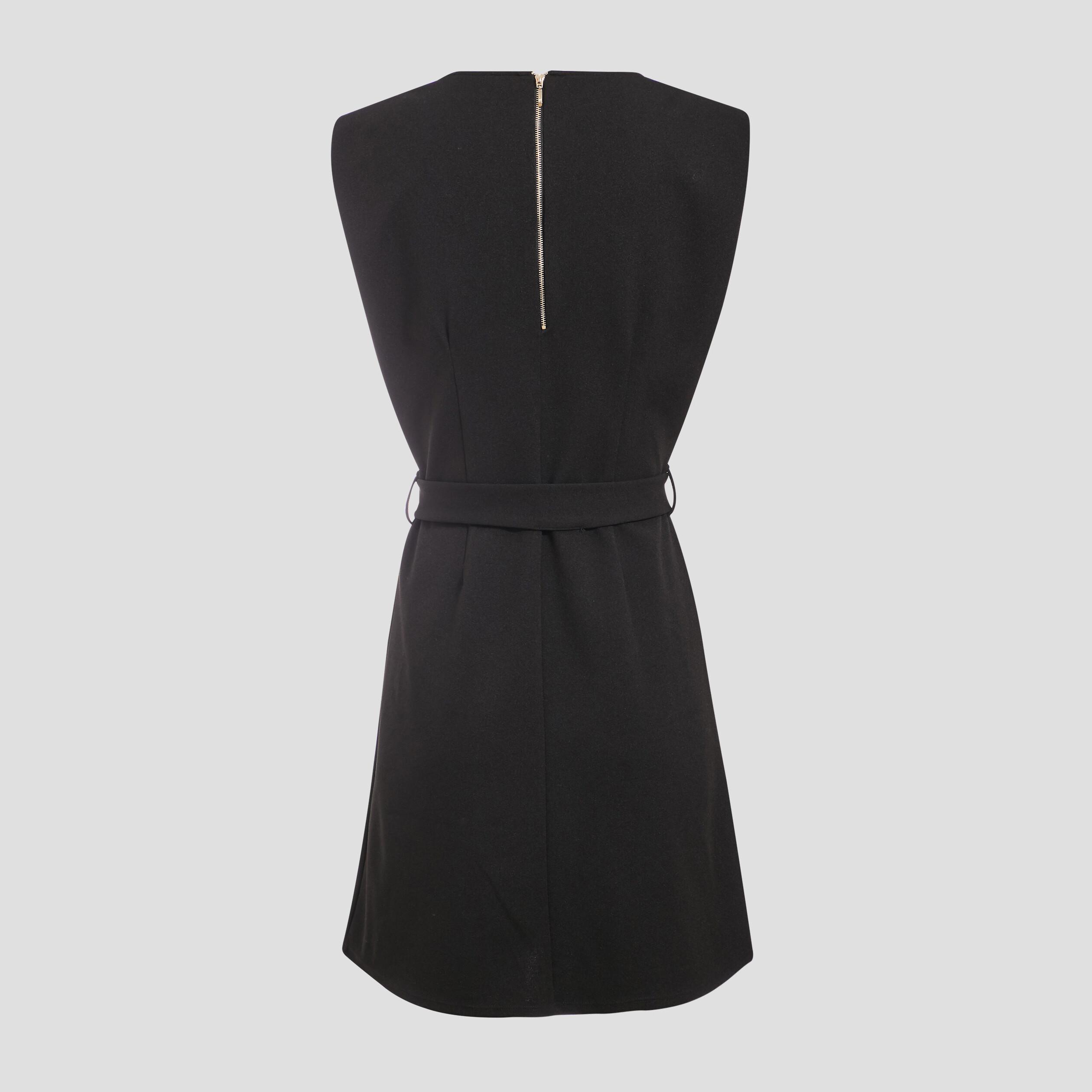 Robe Droite Avec Epaulettes Noir Femme Vib S