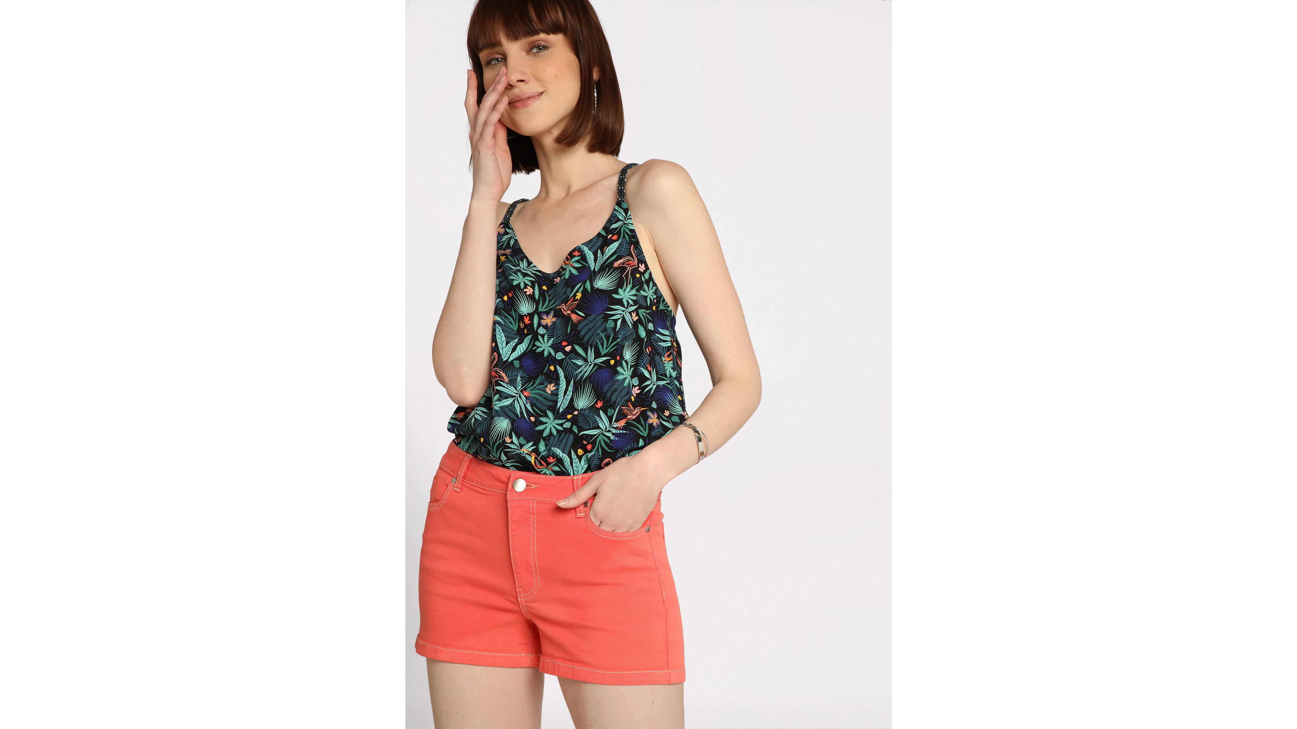 Corail Femme 5 Poches Rose Short Mini uTlJc5K13F