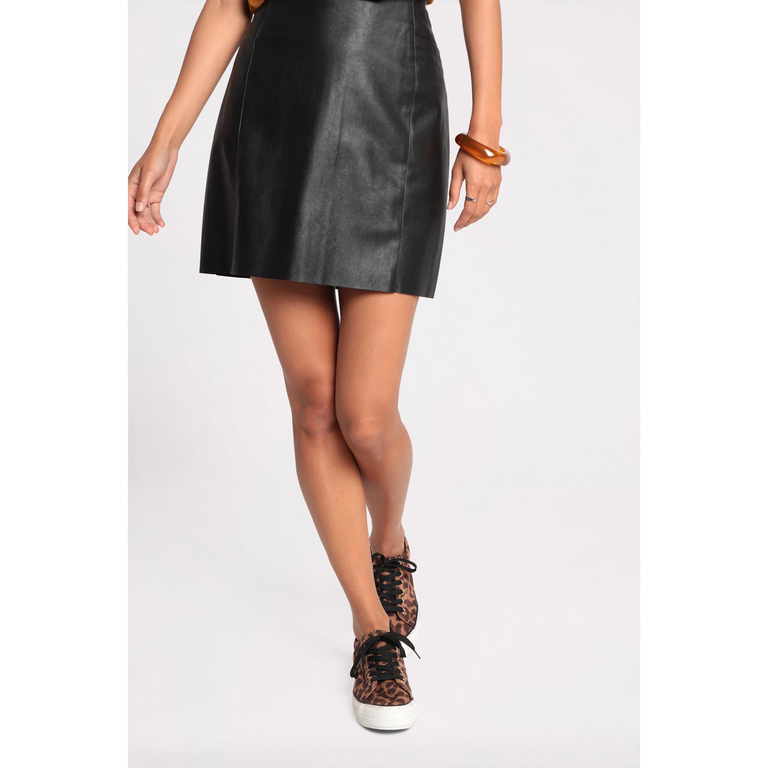 super populaire e8c35 fe828 Jupe effet cuir noir femme