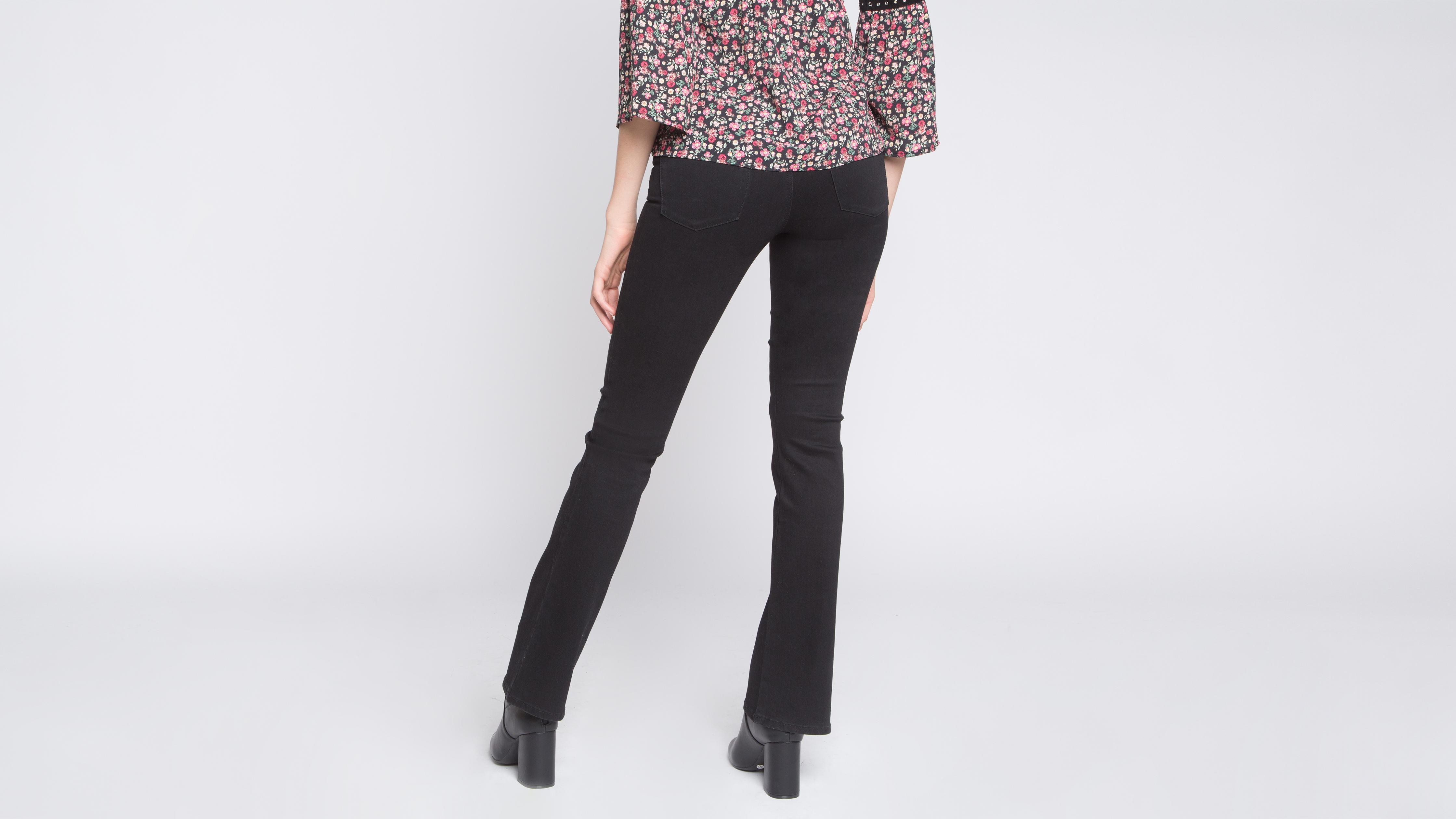 Denim Femmevib's 5 Uni Poches Noir Iyymbf6g7v Jeans Bootcut iPuOkXZ